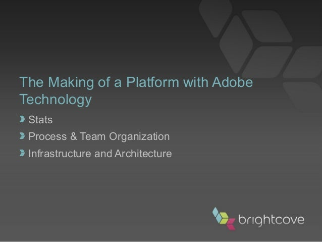 Stats Process & Team Organization Infrastructure and Architecture The Making of a Platform with Adobe Technology