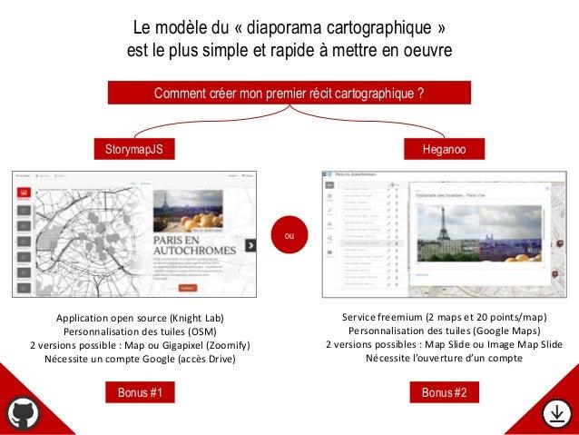 Comment créer mon premier récit cartographique ? ou StorymapJS Heganoo Le modèle du « diaporama cartographique » est le pl...