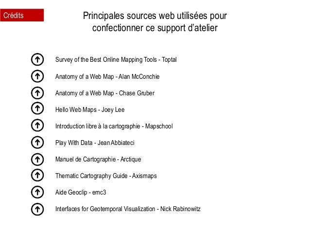 Principales sources web utilisées pour confectionner ce support d'atelier Crédits Survey of the Best Online Mapping Tools ...