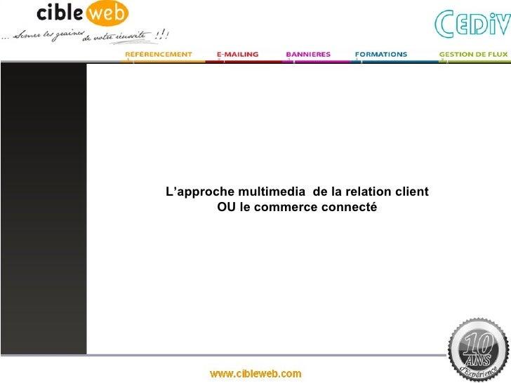 L'approche multimedia de la relation client        OU le commerce connecté