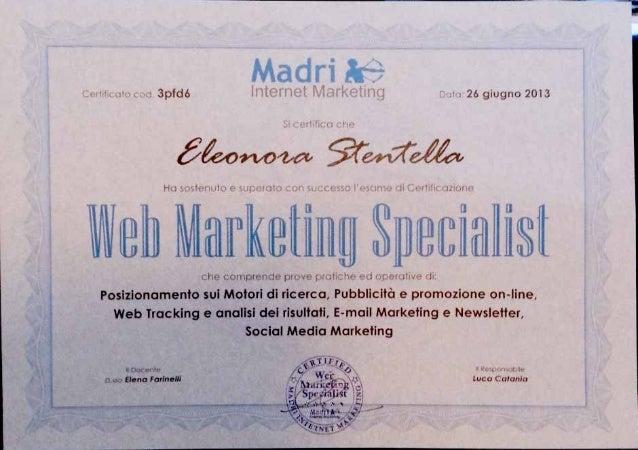 Web marketingspecialist certification