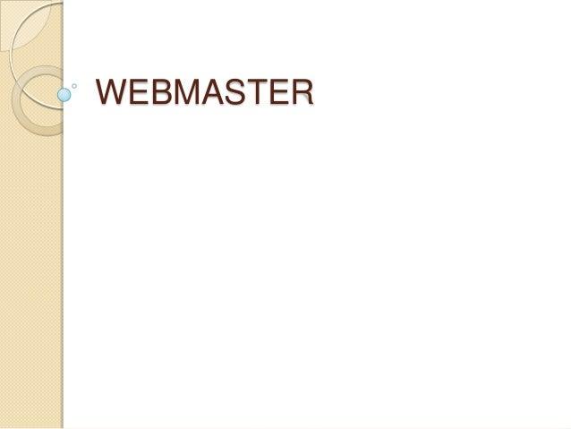 WEBMASTER