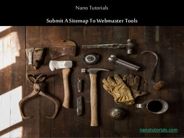 submit sitemap to google webmaster tools