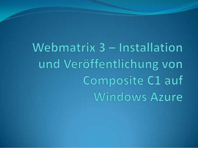Am 01.Mai ist das neue Release von Microsoft's freiem Entwicklungswerkzeug Webmatrix erschienen – WebMatrix 3. Insbesonder...