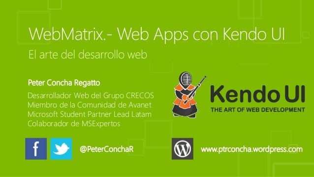 Peter Concha Regatto Desarrollador Web del Grupo CRECOS Miembro de la Comunidad de Avanet Microsoft Student Partner Lead L...