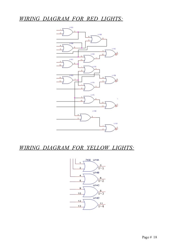 traffic lights logic controller 74154 pin diagram