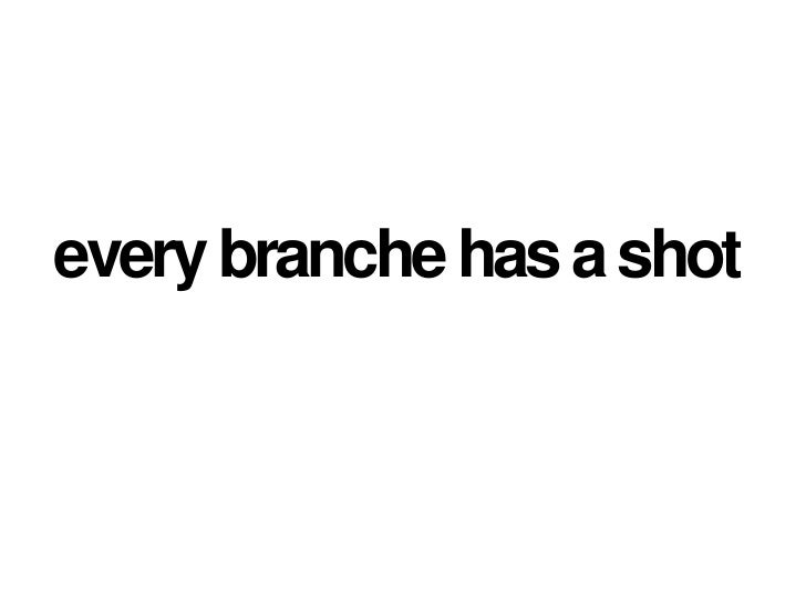 every branche has a shot<br />