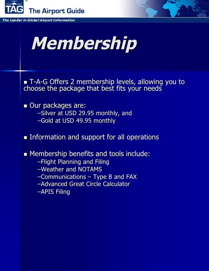 Membership  T-A-G Offers 2 membership levels, allowing you to choose the package that best fits your needs   Our   packa...