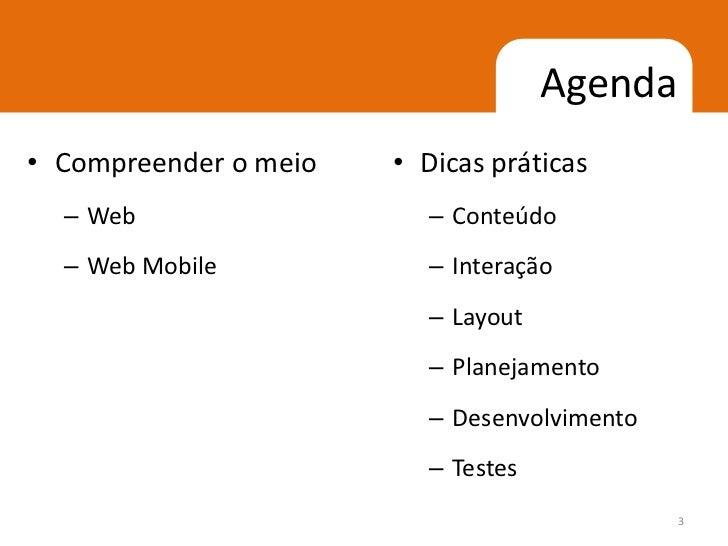 Web mobile dicas Slide 3