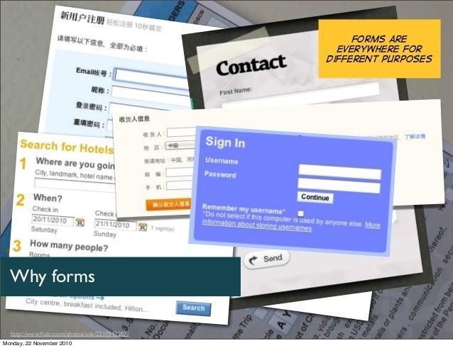 Web and mobile forms design (Chui Chui Tan) - UserFriendly 2010 workshop Slide 2