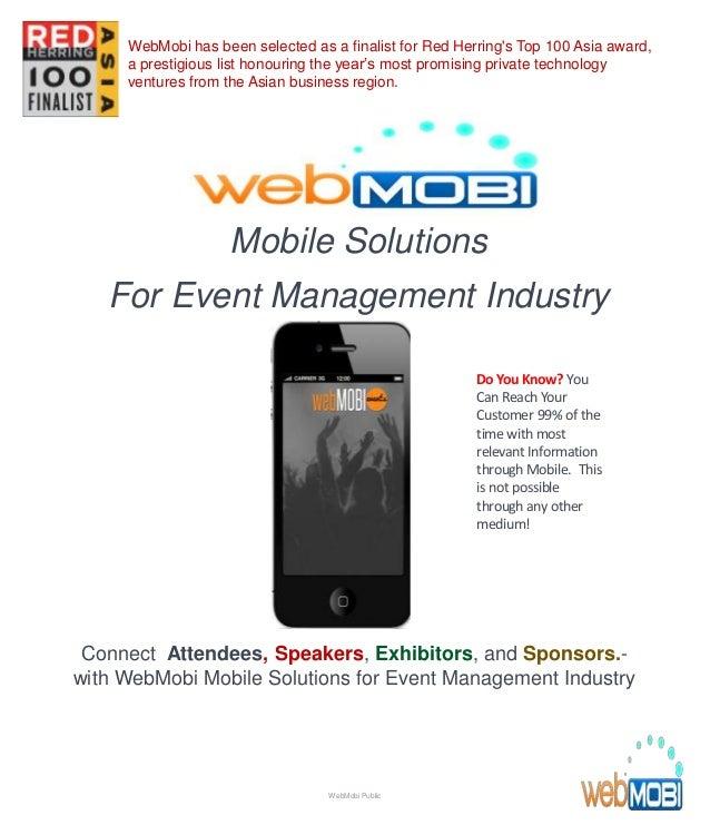 WebMobi Rent An Mobile App Program For Event Management
