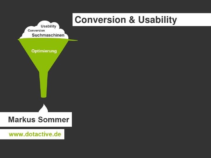 Conversion & Usability<br />
