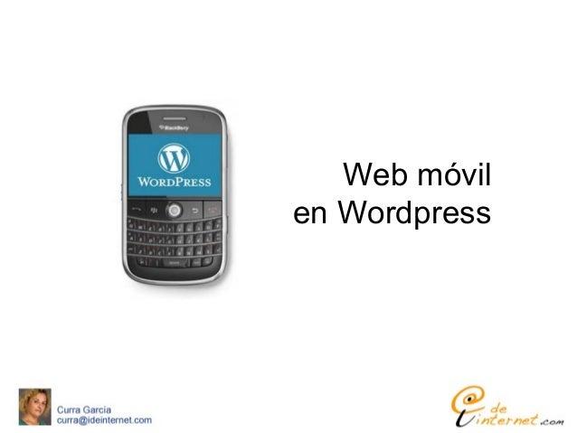 Web móvilen Wordpress
