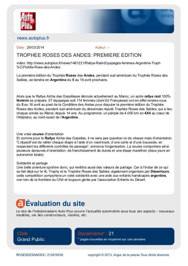 news.autoplus.fr Évaluation du site Le site de l'hebdomadaire Auto Plus couvre l'actualité automobile sous tous ses aspect...