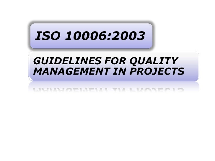 Comparison of iso 10006 and ancs