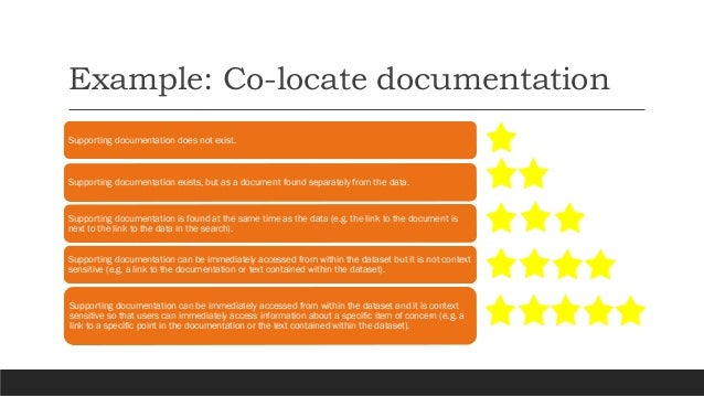 Varying open data maturity levels Be discoverable , co-locate documentation, be measurable are universally challenging