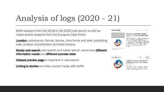 Recommendations for publishers Two types of users Spatial and temporal queries Result presentation Quality reviews Data st...
