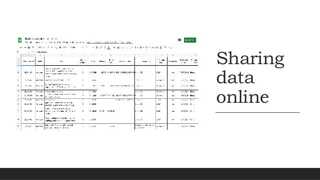 Publishing data for others to use