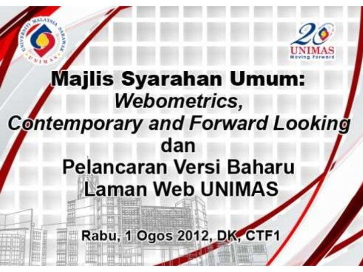 Webometrics1st August 2012