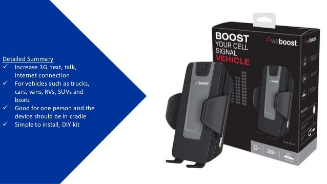Wilson weBoost 3G-S Car Cell Booster | 470106/ 460106