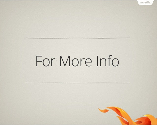 Web is the OS (Firefox OS)