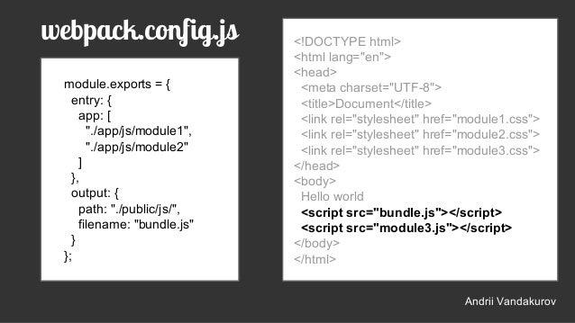 Webpack slides
