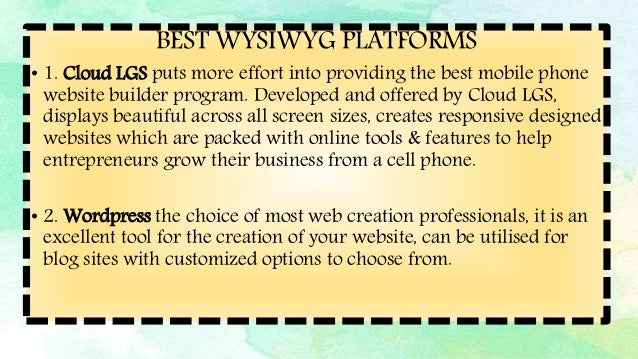 Webpage Design Using Templates And Online Wysiwyg Platforms