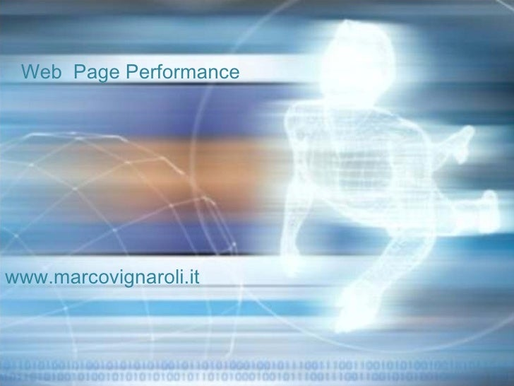 Web  Page Performance  www.marcovignaroli.it