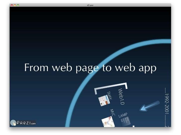 开放时代:从Web page到web app