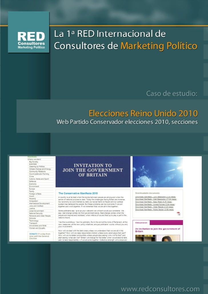 Secciones Web Partido Conservador, elecciones 6 mayo 2010  Manifiesto                                                     ...
