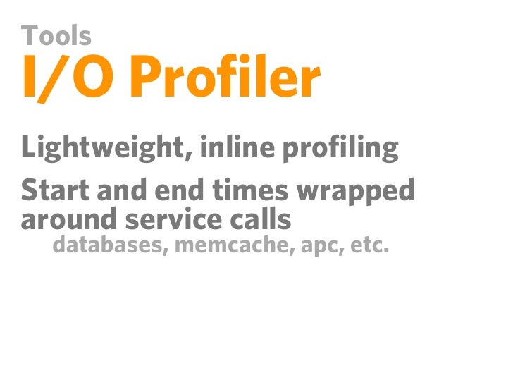 ToolsI/O Profiler