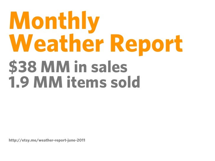 MonthlyWeather Report990 MM page viewshttp://etsy.me/weather-report-june-2011
