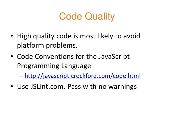 Performance Optimization and JavaScript Best Practices slideshare - 웹