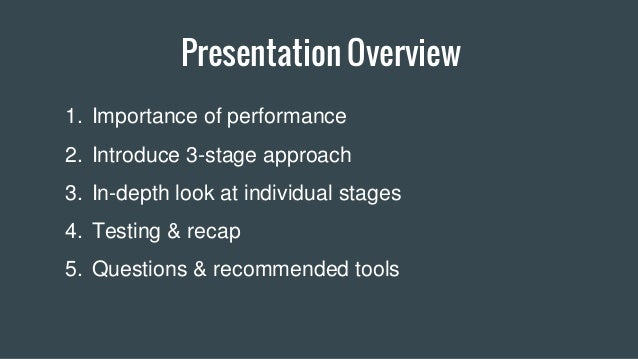Web Performance: 3 Stages to Success Slide 3