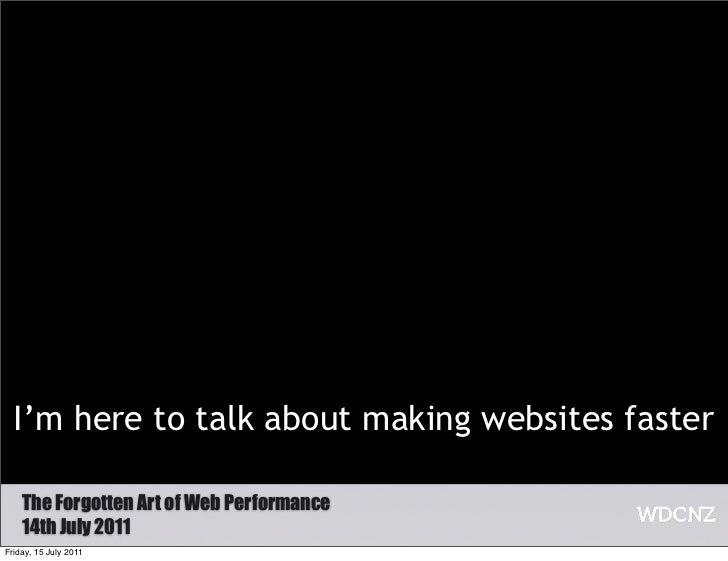 Web performance at WDCNZ Slide 2