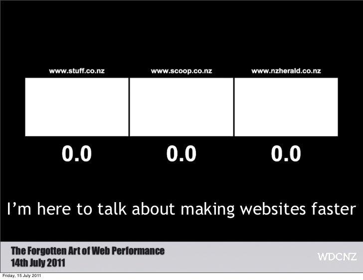 Web performance at WDCNZ Slide 3