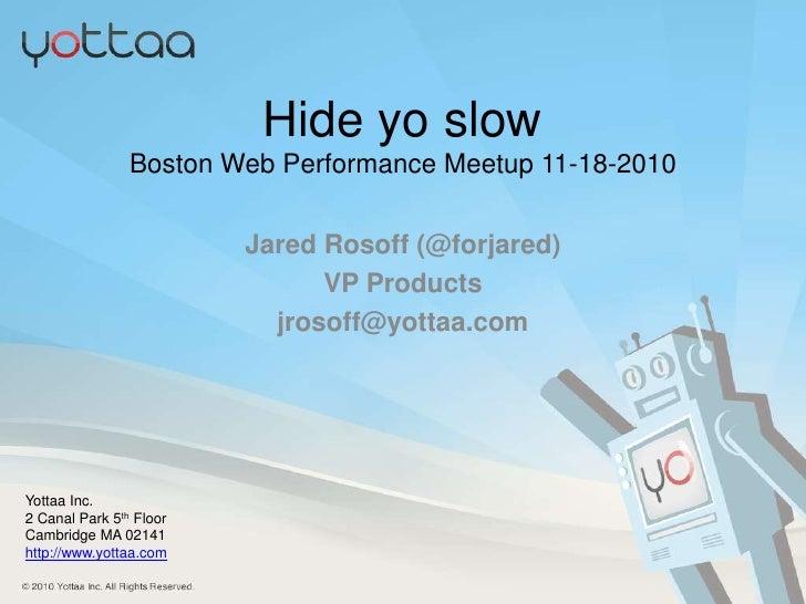 Web performance meetup bos 11 18-2010