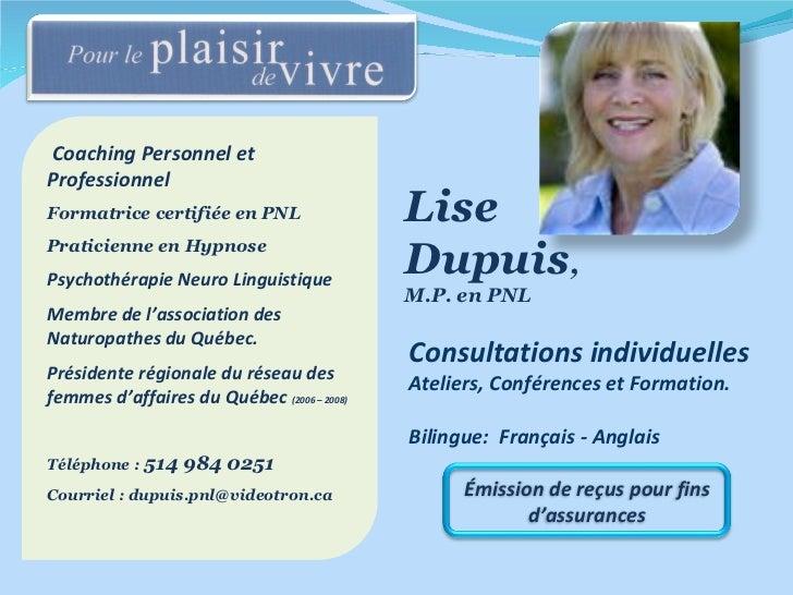 Coaching Personnel et  Professionnel Formatrice certifiée en PNL Praticienne en Hypnose Psychothérapie Neuro Linguistique ...