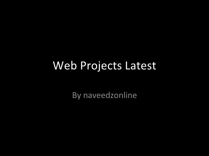 Web Projects Latest By naveedzonline