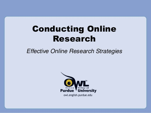 Conducting Online Research Effective Online Research Strategies