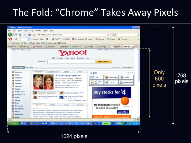 """TheFold:""""Chrome"""" TakesAwayPixels                                   Only                                         768   ..."""