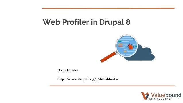 Web profiler in drupal 8