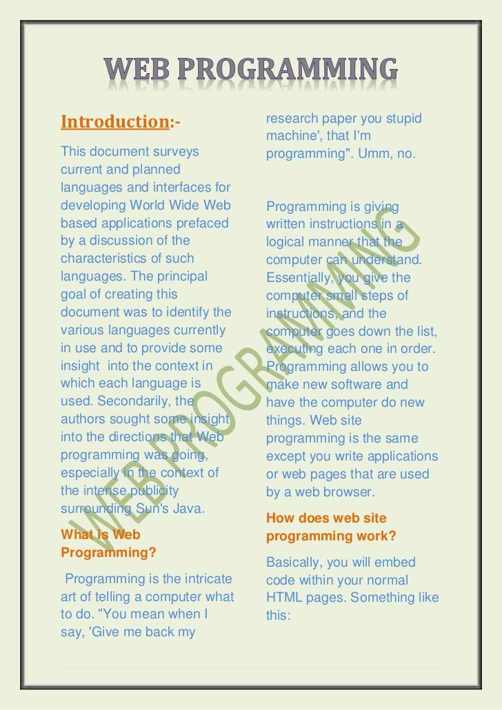 Introduction:-                   research paper you stupid                                 machine, that ImThis document s...