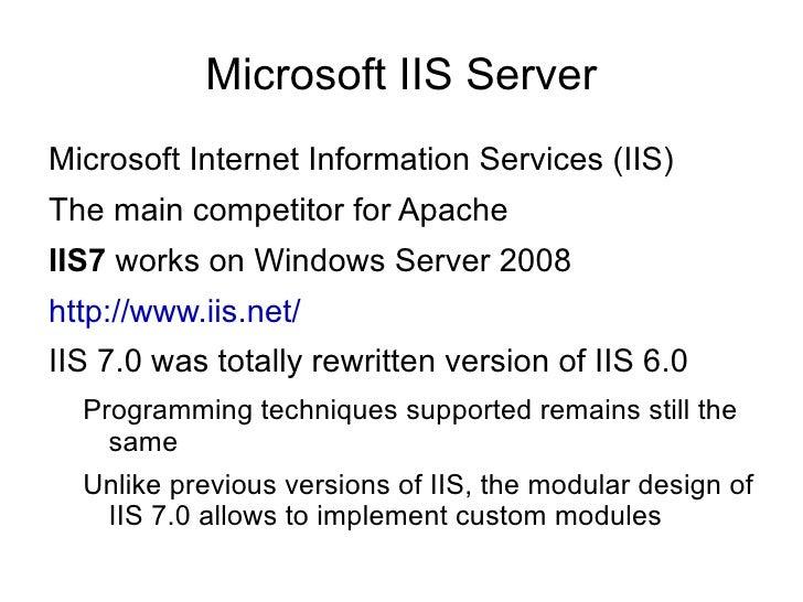 Web Server-Side Programming Techniques