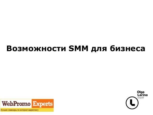 Возможности SMM для бизнеса