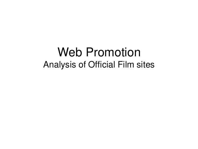 Web Promotion Analysis of Official Film sites