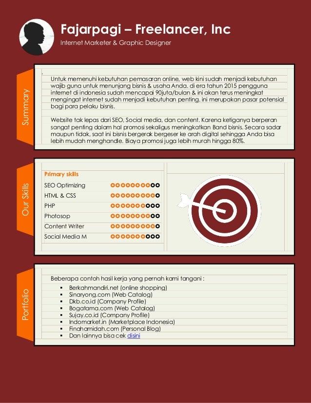 Freelance Web Designer Profile