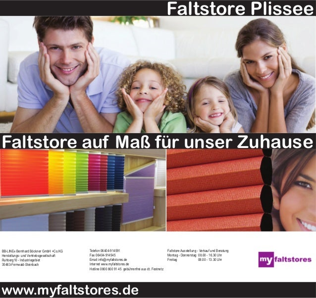 www.myfaltstores.de BB-LINE® Bernhard Böckner GmbH +Co.KG Herstellungs- und Vertriebsgesellschaft Ruhberg10 - Industriegeb...