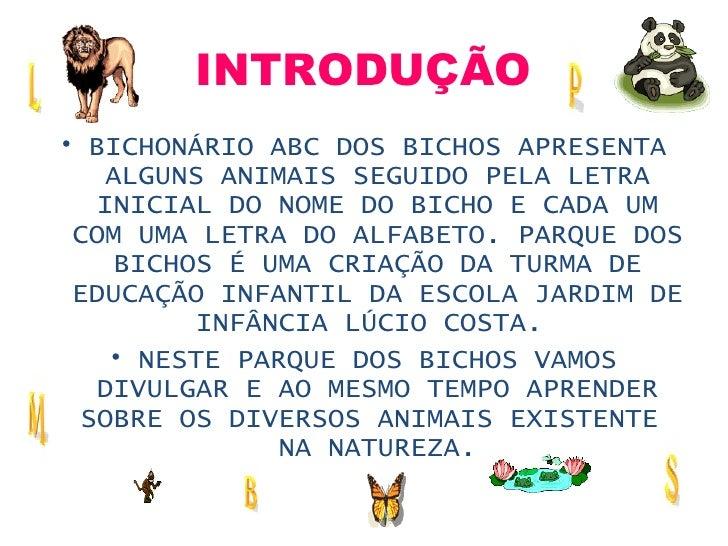 Bichonario Abc Dos Bichos Webquest