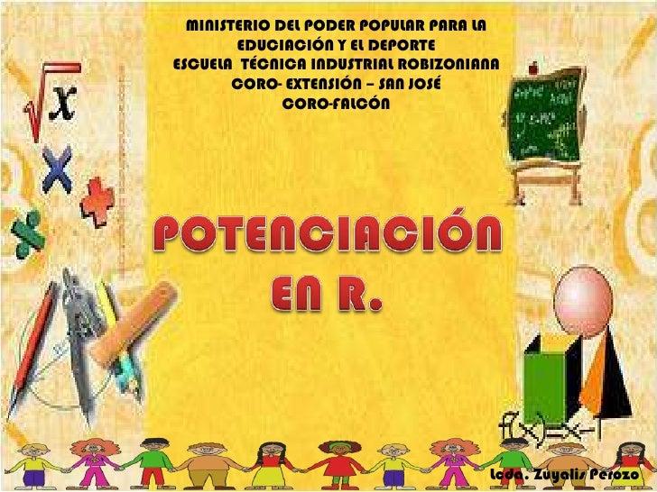 MINISTERIO DEL PODER POPULAR PARA LA EDUCIACIÓN Y EL DEPORTE<br />ESCUELA  TÉCNICA INDUSTRIAL ROBIZONIANA<br />CORO- EXTEN...